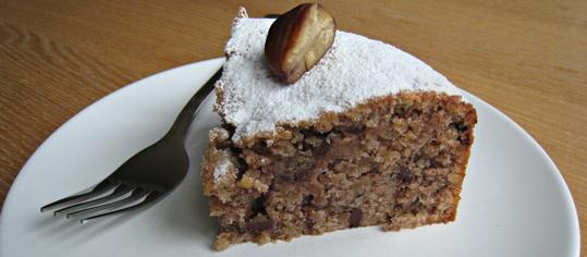 Marronikuchen mit Schokolade